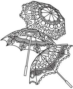 Delicate Parasols design (UTH4564) from UrbanThreads.com