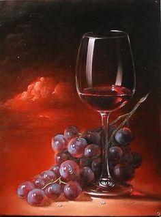 posted©by: █║ Rhèñdý Hösttâ ║█ Oil Painting Pictures, Pictures To Paint, Art Pictures, Wine Painting, Fruit Painting, Painting Still Life, Still Life Art, Wine Photography, Still Life Photos