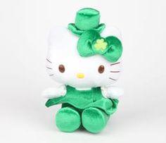 "Hello Kitty 8"" Plush: Shamrock"