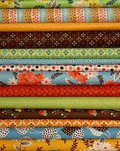 I mostly like to show you fabrics that are one panel so you can really see what they look like.  I'm showing you this one as a group because I think they go so well together.  It's flea market fancy by Denyse Schmidt.  These fabrics are specifically coordinated to make quilts.