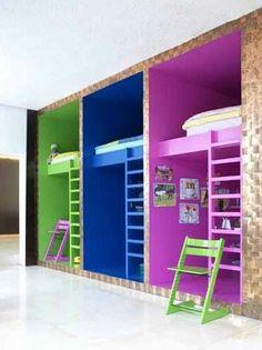 adorable idea! little colorful rooms inside a room /via facebook