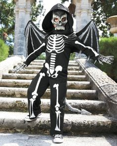 flying skeleton boys costume More