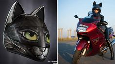 This traffic-stopping feline inspired helmet is everything you need to fulfill your dreams of channeling your inner Cat Woman 365 days a year. Cat ears are no longer just for Halloween parties!  Created by the Russian company Nitrinos motostudio, this awesome cat ear helmet design is offered in a...