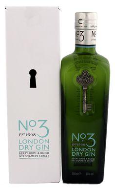 No. 3 London Dry Gin 0.7L 46% - Engeland