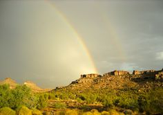 Double Rainbows over Red Ghost Canyon.