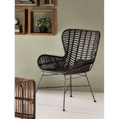 Vintage style Rattan Armchair and chairs in retro new design for hallways, bedroom and living room. Handmade in stylish rattan natural or black with heavy duty steel Black Armchair, Rattan Armchair, Wingback Chair, Retro Furniture, Antique Furniture, Furniture Design, Low Chair, Bedroom Corner, Kingdom Of Great Britain