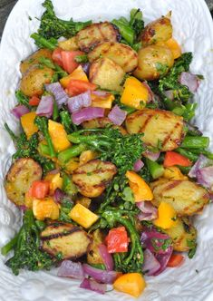 Grilled potato and broccolini salad.