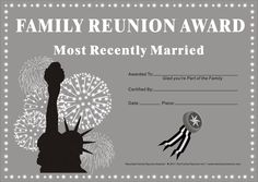 hawaiian party ideas for family reunion | Family Reunion Certificates