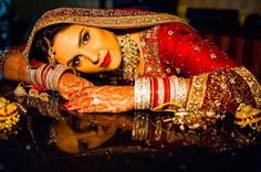 Dulhan in traditional red!