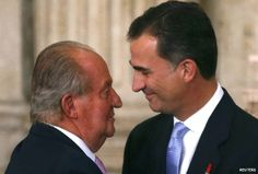 bbc:  Spanish Abdication Ceremony, June 18, 2014-Spain now has two kings-King Juan Carlos and King Felipe