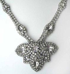 Art Deco Rhinestone Necklace 1920s