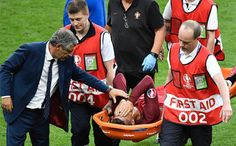 Knee injury forces Portugals Cristiano Ronaldo off against France