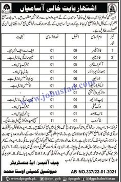 #municipalcomitteejobs2021 #govtjobsinustamuhammad #govtjobsinsibi Provincial Government of Balochistan wants to hire appropriate candidates to fill the Municipal Committee Jobs 2021 in Usta Muhammad District Sibi. In these Jang Classified Jobs, male/female candidates from across the district Jaffarabad can apply who are literate and have 18-35 years of age.