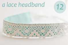 From Design Mom, 24 easy craft gifts.  Love this headband.  Maybe Valentines day