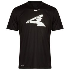 official photos b7cdb aebb1 Chicago White Sox Men s Black Half Batterman Nike Dri-Fit Tee