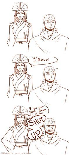 Just saying by ~Giftieat on deviantART (Kyoshi vs. Aang)