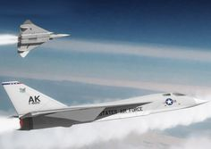 XF-108. Artist's impression of two F-108's attached to Elmendorf AFB, Alaska…