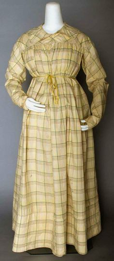 18th century maternity clothes | MADRAS MATERNITY/HOUSE DRESS, 1820s