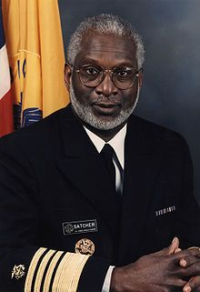 16th Surgeon General of the United States David Satcher graduated from Morehouse College in Atlanta in 1963 and was elected to Phi Beta Kappa. He received his M.D. and Ph.D. in Cell Biology from Case Western Reserve University in 1970 with election to Alpha Omega Alpha Honor Society. Satcher pledged Omega Psi Phi fraternity and is an initiate at the Psi Chapter of Morehouse College.