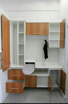 Inspiração de armário para lavanderia (mudar a cor) Small Laundry Rooms, Laundry Closet, Laundry Room Organization, Laundry Room Design, Laundry In Bathroom, Laundry Storage, Room Interior, Interior Design Living Room, Living Room Designs