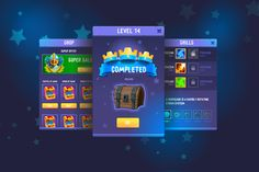 Ad: Complete Fantasy Game UI kit by Game Ui art on Creative Market. This UI Kit . - UI Kits and Libraries Templates - Game Art Web Design, Game Ui Design, Flyer Design, Design Ideas, Graphic Design, Ui Kit, Best Website Design, Website Templates, Level Design