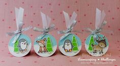 Lawnscaping Challenge: Lawn Fawn Christmas Gift Tags by Elise Constable.