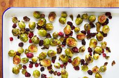 Coconut Roasted Sprouts with Cranberries #glutenfree #grainfree