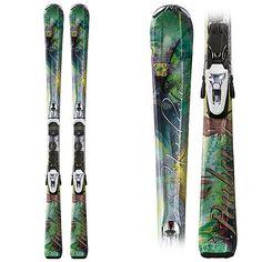 Mom skis