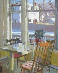 Carole Rabe, Snow Outside Kitchen Window