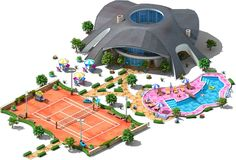 Real World Buildings: Timed Quests - Megapolis WikiRealWorld Tennis Country Club