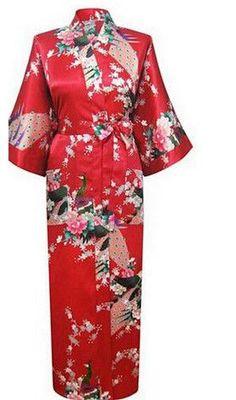 c4779e29cd Brand New Long Robe Satin Rayon Bathrobe Nightgown For Women Kimono  Sleepwear Flower Plus Size S-XXXL S02D