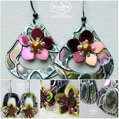 Judi Kauffman created these beautiful Shimmer Sheetz Droplets & Flowers Earring. She used our Jewelry Set 2 Droplets die, Shimmer Sheetz, Embossing Folders and a variation of Flower dies. They are easy to create, very lightweight and will make a perfect gift. See them all on our blog: http://ecraftdesignsblog.com/…/shimmer-sheetz-droplets-flo…/