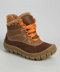 Brown & Orange Marley Duck Boot