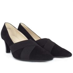 Peter Kaiser Malana | Women's Mid Heel Court Shoes in Black Suede