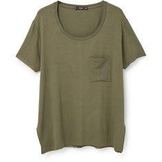 MANGO Pocket T-Shirt ($9.99) ❤ liked on Polyvore featuring tops, t-shirts, shirts, round top, pocket tees, tee-shirt, short-sleeve shirt and round t shirt