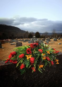This item is unavailable Grave Flowers, Cemetery Flowers, Flower Vases, Flower Arrangements, Cemetary Decorations, Memorial Flowers, Porch Decorating, Red Roses, Greenery