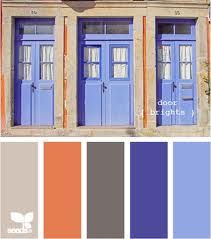 Blues/orange