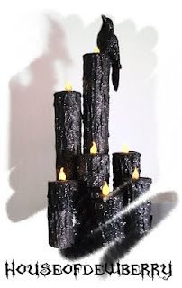 DIY drippy candles--This site has some good ideas: glue glass pebbles to bottom so they are not top-heavy; make a pocket of tape to hold the tealight instead of matchsticks.