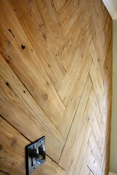 DIY Wood Herringbone Plank Wall
