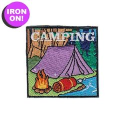Camping Patch from MakingFriends.com Easy Iron-on.