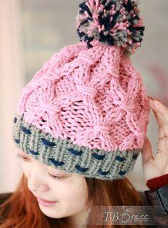 Exquisito coreana encantadora de lujo del hilado de lana Sombrero