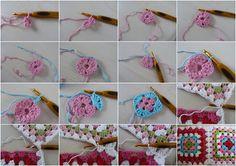 Ilona's blog: patroon granny square, granny square tutorial