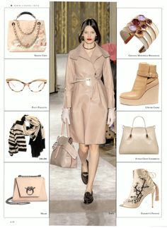 """Thank you COLLEZIONE ACCESSORI for including the """"Piccola Principessa"""" in blush patent leather and the """"Lady Clare"""" in black quilted calfskin, in your Autumn / Winter 2015-16 editorials."""