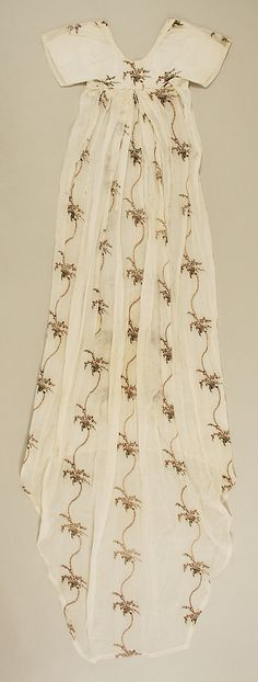 c. 1795 dress made of cotton and silk, probably British, The Metropolitan Museum of Art (back)