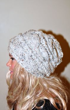 Cabled Women Hat