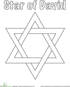 This Star of David coloring page is great for kids celebrating Hanukkah. Decorate our Star of David coloring page with your child during the Festival of Lights. Hanukkah For Kids, Hanukkah Crafts, Jewish Crafts, Hannukah, Jewish Art, Menorah, Toddler Crafts, Preschool Crafts, Preschool Ideas
