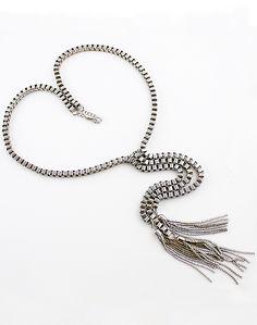 Collar cadena flecos-Plata EUR€7.61