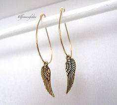 gold leaves earrings