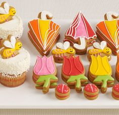 spring cookies and cupcakes