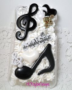 Musical Theme Ipod Touch 4th Generation Case by HCKaylanDesigns